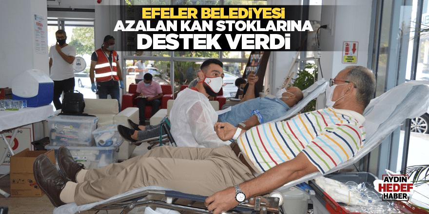 Efeler Belediyesi azalan kan stoklarına destek verdi