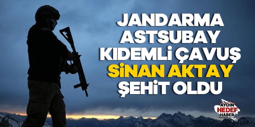 Jandarma Astsubay Kıdemli Çavuş Sinan Aktay şehit oldu