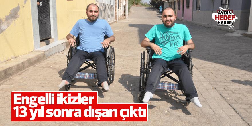 Engelli ikizler 13 yıl sonra dışarı çıktı