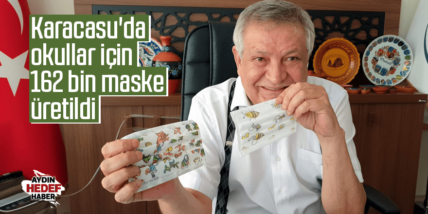 Karacasu'da okullar için 162 bin maske üretildi