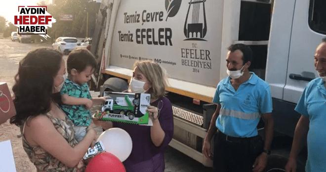 Efeler Belediyesi minik Yaman'ı sevindirdi