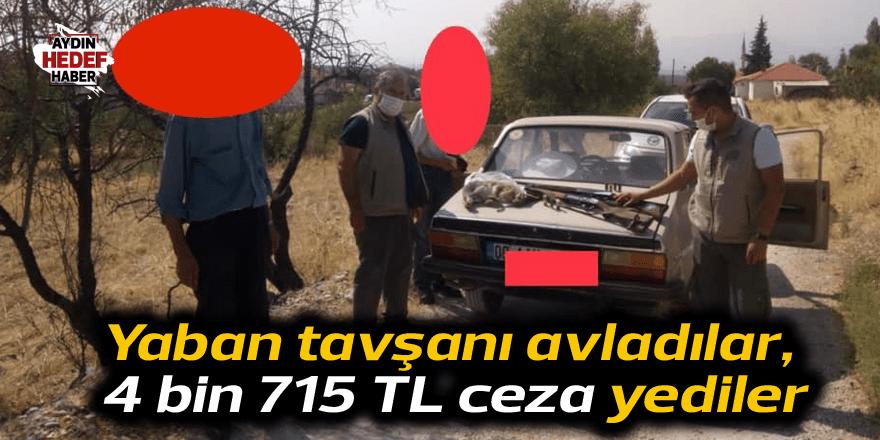 Yaban tavşanı avladılar, 4 bin 715 TL ceza yediler