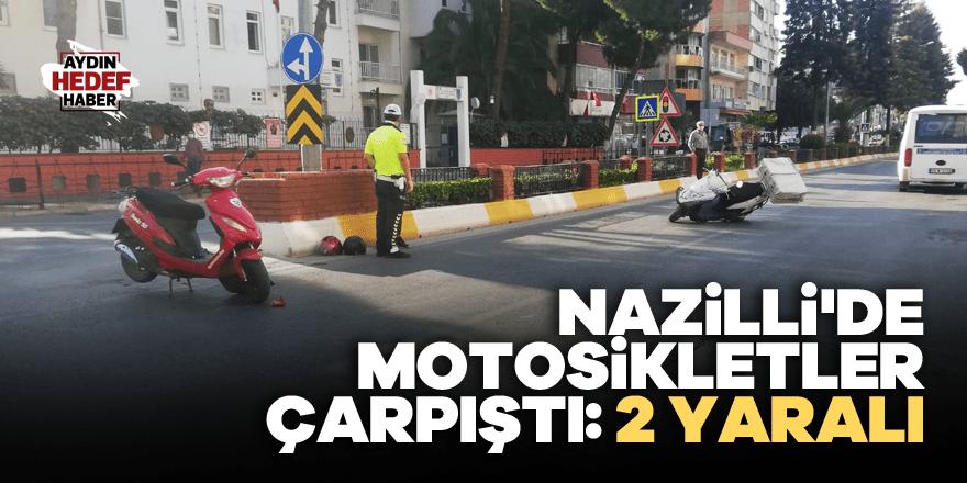 Nazilli'de motosikletler çarpıştı: 2 yaralı