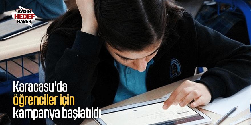 Karacasu'da öğrenciler için kampanya başlatıldı
