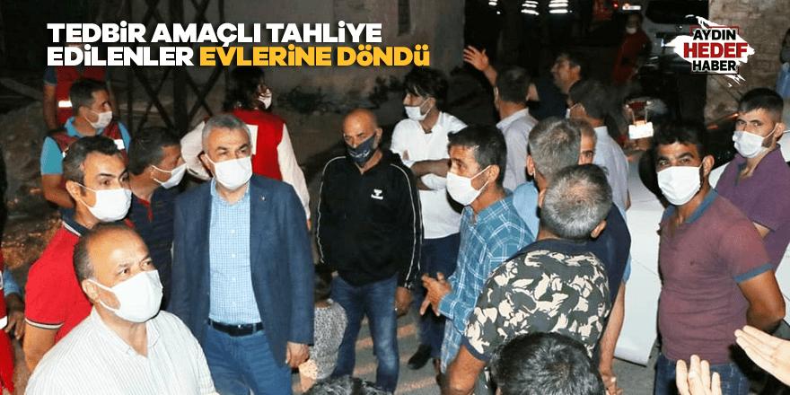 Tedbir amaçlı tahliye edilenler evlerine döndü