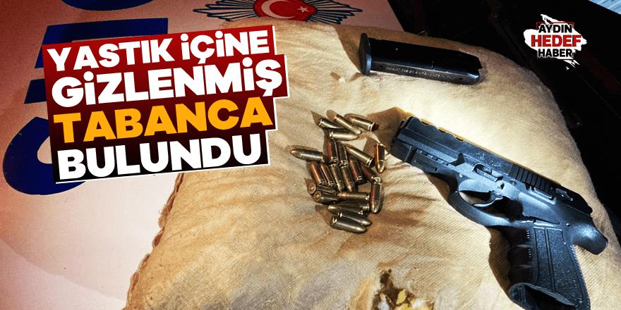 Yastık içine gizlenmiş tabanca bulundu