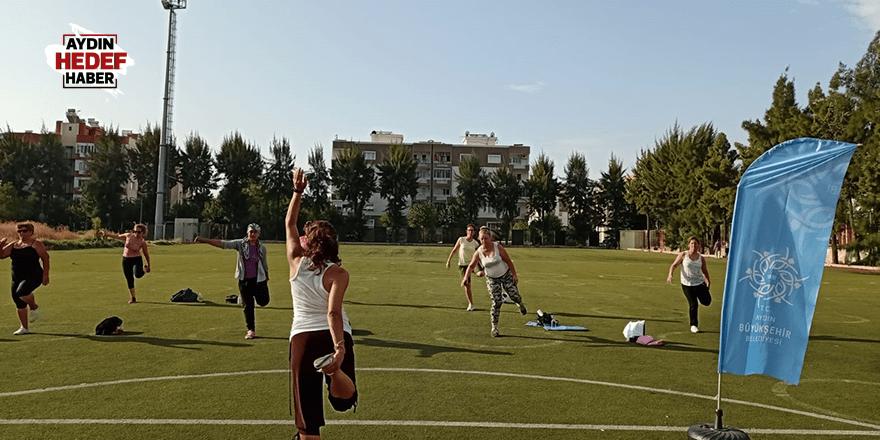 Büyükşehirin sabah sporları devam ediyor