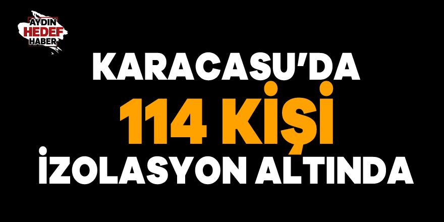 Karacasu'da 114 kişi izolasyon altında