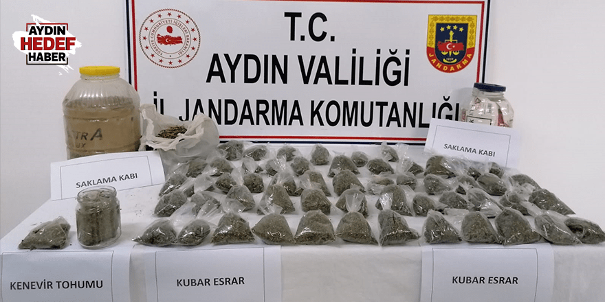 Aydın'da uyuşturucu ele geçirildi