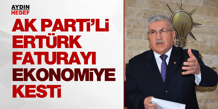 AK Parti'li Ertürk faturayı ekonomiye kesti
