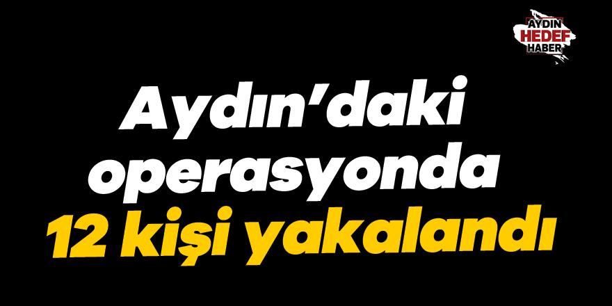 Aydın'daki operasyonda 12 kişi yakalandı