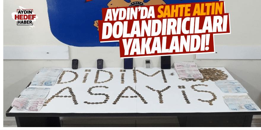 Aydın'da sahte altın dolandırıcıları yakalandı