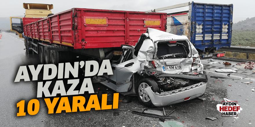 Aydın'da kaza: 10 yaralı