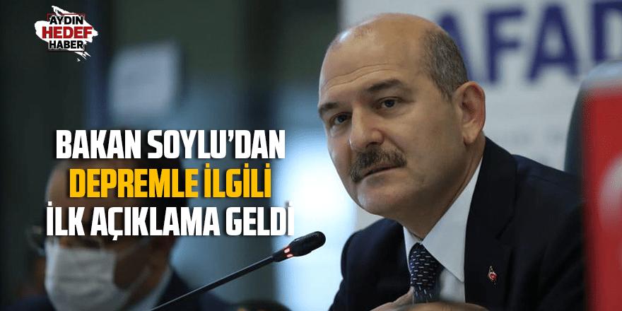 BAKAN SOYLU'DAN DEPREMLE İLGİLİ  İLK AÇIKLAMA GELDİ