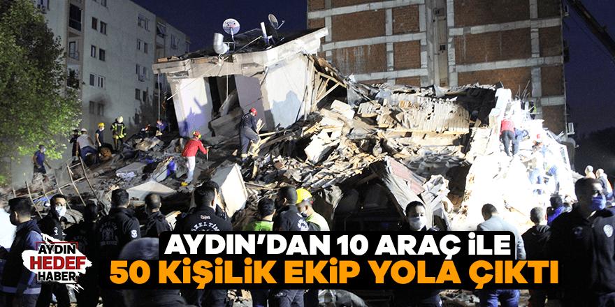Aydın'dan 10 araç ile 50 kişilik ekip yola çıktı