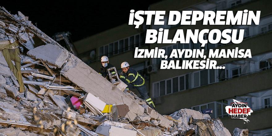 işte depremin bilançosu! İzmir, Aydın, Manisa, Balıkesir...