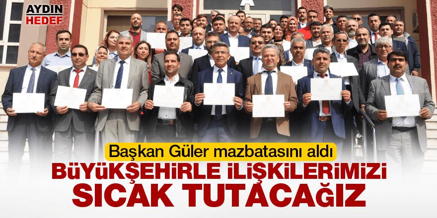 Köşk Belediye Başkanı Güler mazbatasını aldı