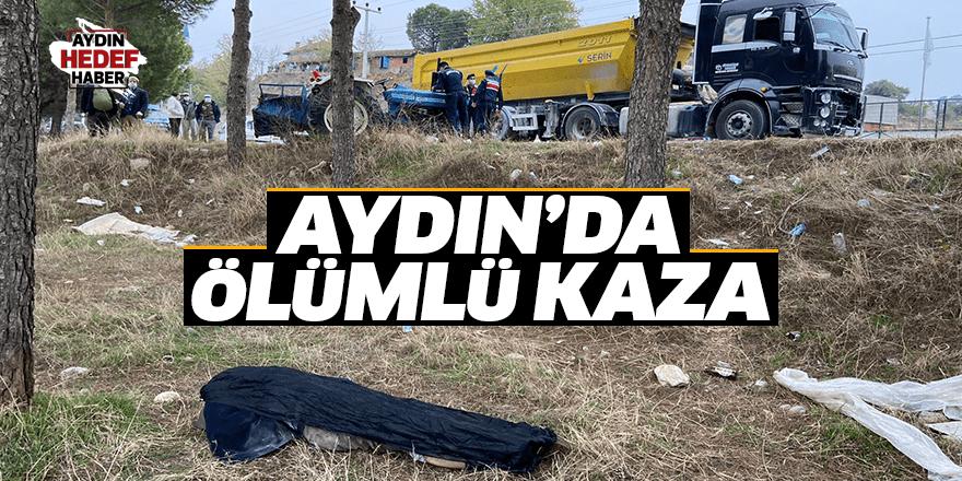 TIR ile çarpışan traktörün sürücü hayatını kaybetti