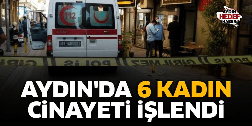 Aydın'da 6 kadın cinayeti işlendi