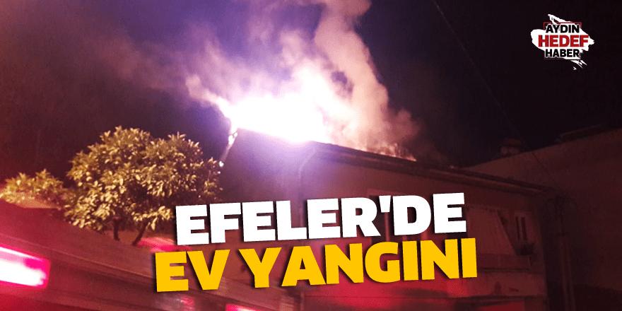Efeler'de ev yangını