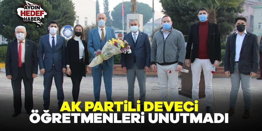 AK Partili Deveci öğretmenleri unutmadı