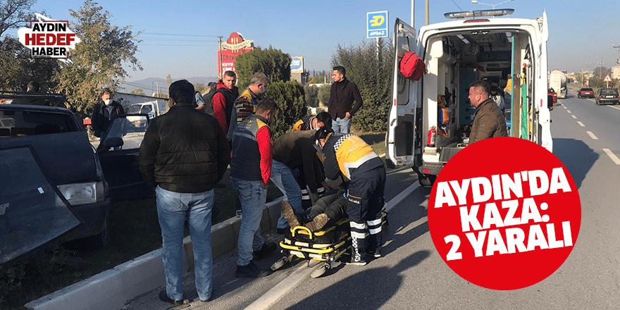 Çine'deki trafik kazasında 2 kişi yaralandı