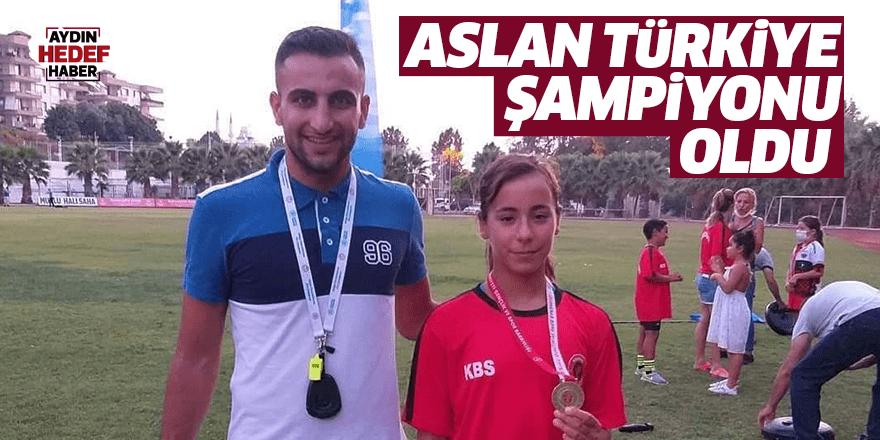 Aslan, Türkiye Şampiyonu oldu