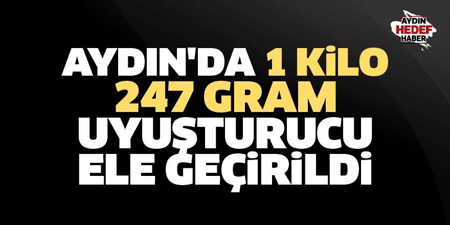 Aydın'da 1 kilo 247 gram sentetik uyuşturucu ele geçirildi