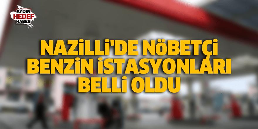 Nazilli'de nöbetçi petrol istasyonları