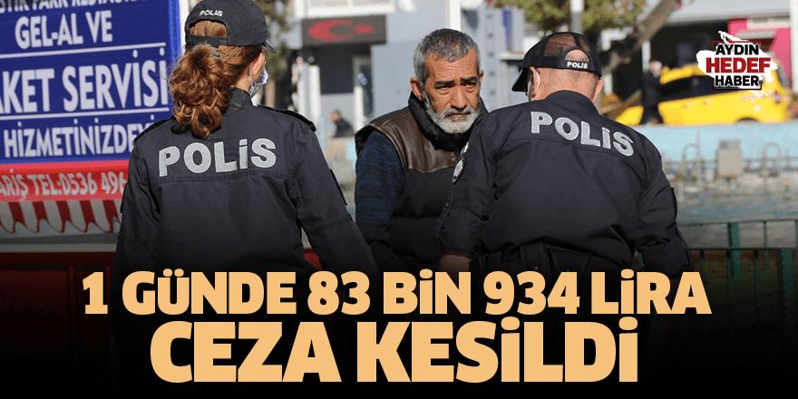 1 günde 83 bin 934 lira ceza kesildi