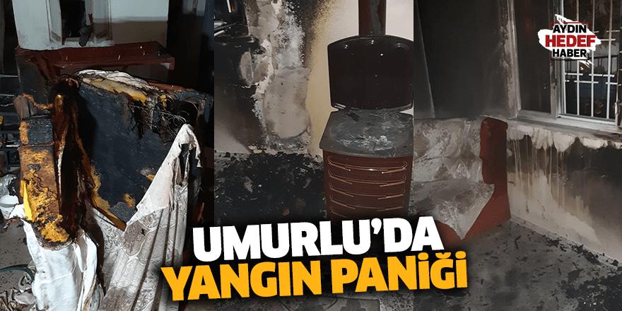 Umurlu'da yangın paniği