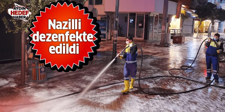 Büyükşehir Nazilli'de cadde ve sokakları dezenfekte etti