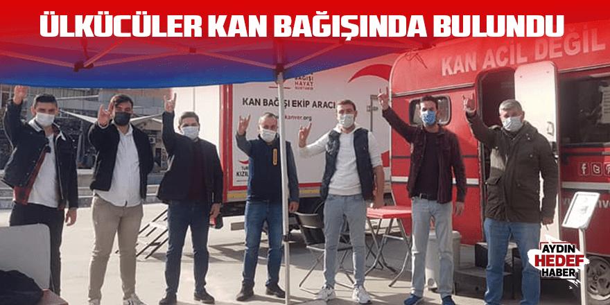 Ülkücüler kan bağışında bulundu