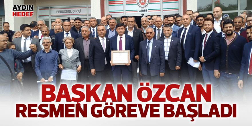 Başkan Özcan resmen göreve başladı