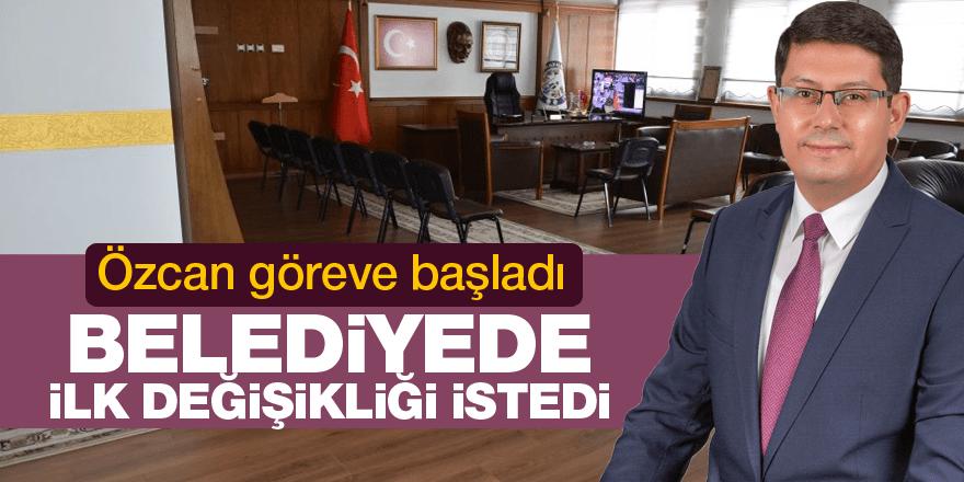 Başkan Özcan göreve başladı