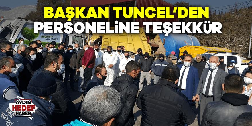 Başkan Tuncel'den temizlik işleri personeline teşekkür