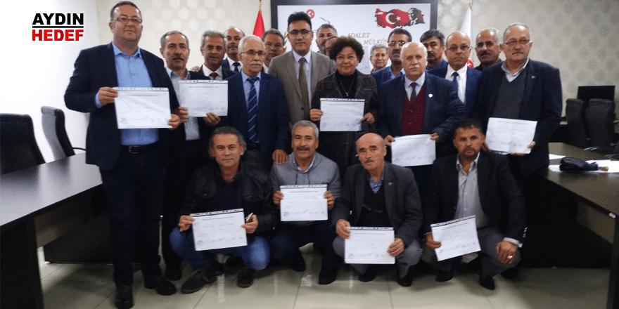 Nazilli'de 20 muhtar mazbata heyecanı yaşadı