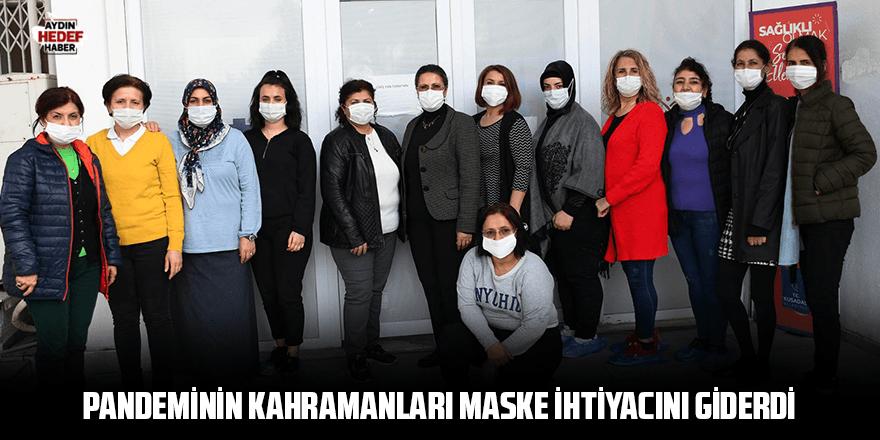 Pandeminin kahramanları maske ihtiyacını giderdi