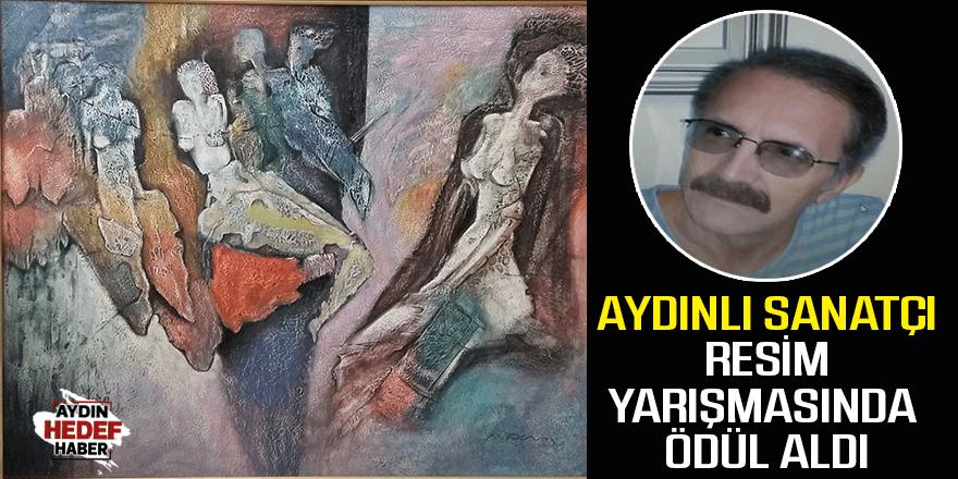 Aydınlı sanatçı resim yarışmasında ödül aldı