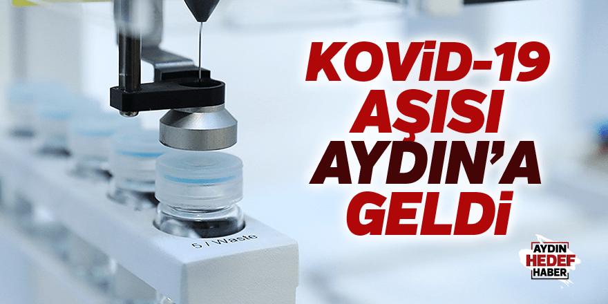 Kovid-19 aşısı Aydın'a geldi