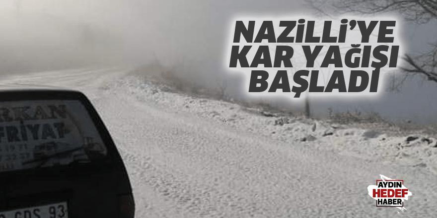 Nazilli'ye kar yağışı başladı