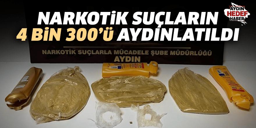 Narkotik Suçların 4 bin 300'ü aydınlatıldı