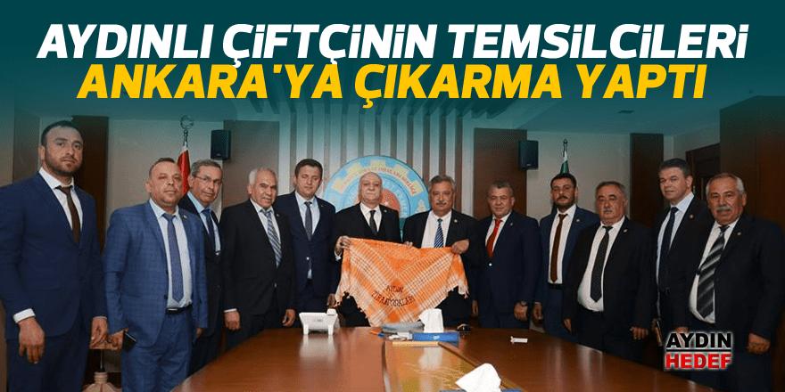 Aydınlı çiftçinin temsilcileri Ankara'ya çıkarma yaptı