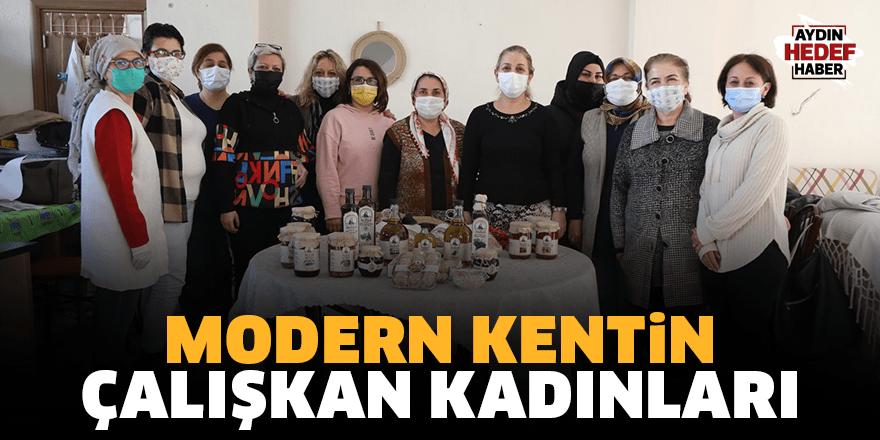 Modern kentin çalışkan kadınları