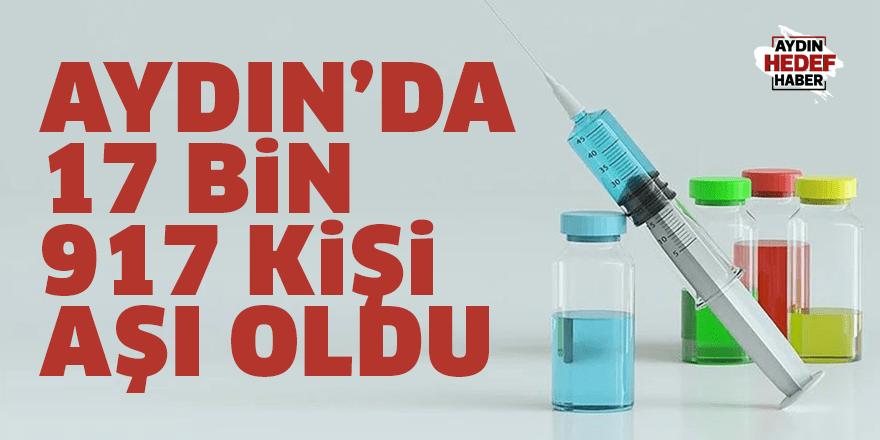 Aydın'da 17 bin 917 kişi aşı oldu