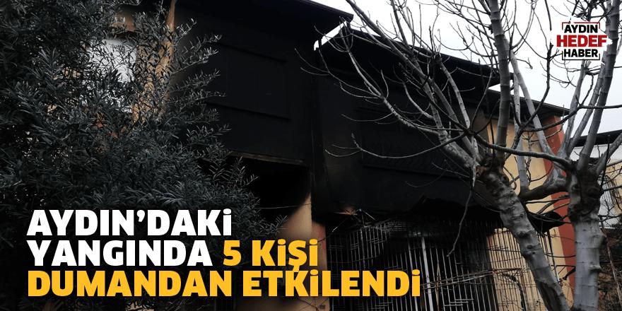 Aydın'daki yangında 5 kişi dumandan etkilendi