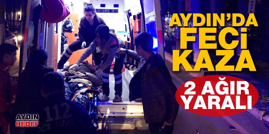 Aydın'da trafik kazası; 2 ağır yaralı
