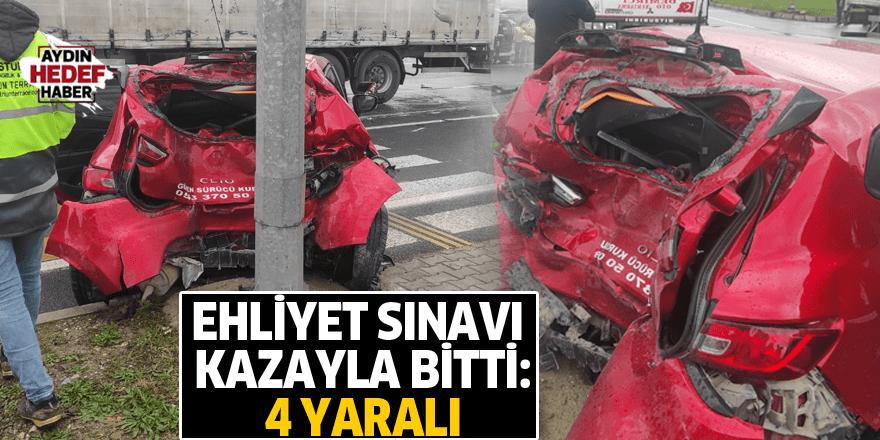 Ehliyet sınavı kazayla bitti: 4 yaralı