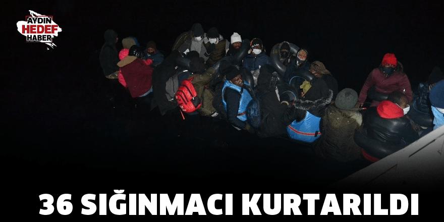 Umuda yolculukta 36 sığınmacı kurtarıldı