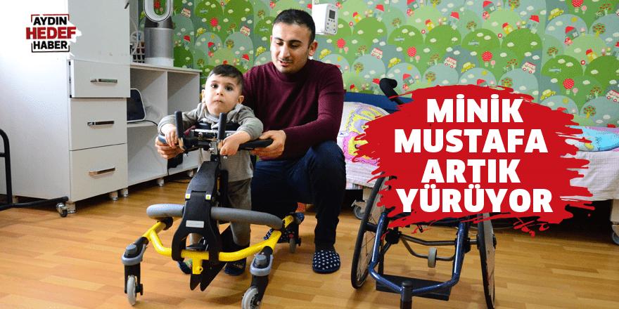 Minik Mustafa artık yürüyor